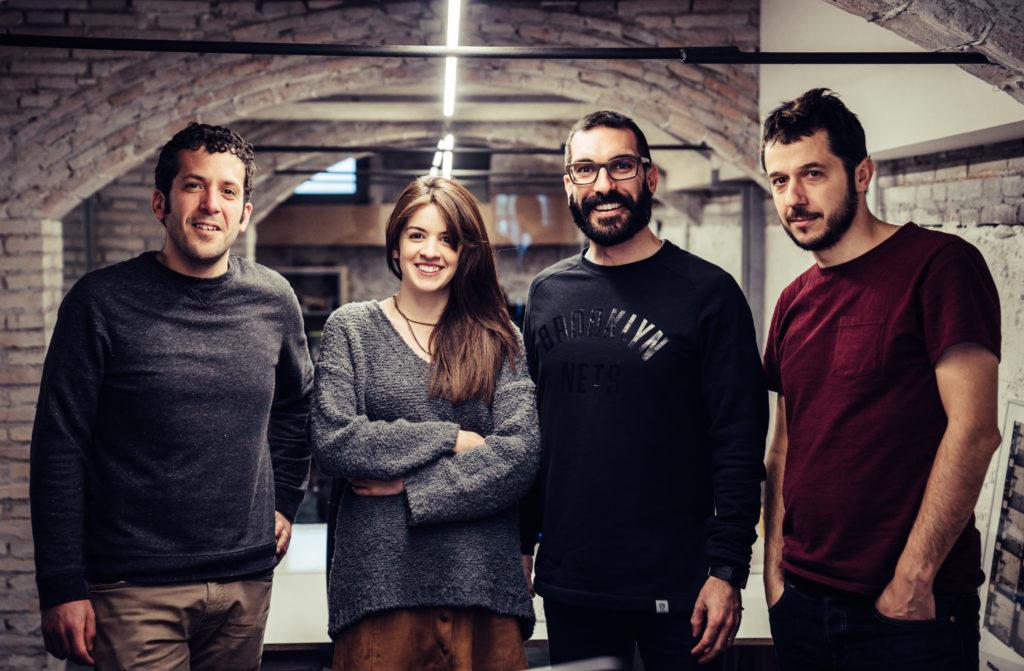 Equip d'aeiou: Xevi, Ari, Gerard i Jordi